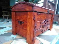 Wooden Blanket Box Coffee Table Trunk Vintage Chest Wooden Ottoman Toy Box (ER2)