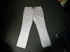"Giordano Blues Skinny Roll Up Crop Jeans W 30"" L 27"" Faded White Ladies Jeans"