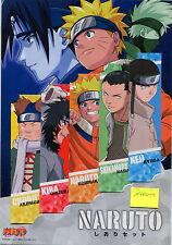 Naruto set Segnalibri 2 - bookmarks - Naruto Shikamaru Neji Chouu Kira - RARE