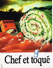 PUBLICITE ADVERTISING 054  1986  UNCLE BEN'S  riz chef & toqué