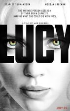Lucy DOUBLE SIDED ORIGINAL MOVIE POSTER Scarlett Johansson Luc Besson Superhero