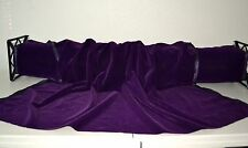 "Triple Velvet Dk Purple/Eggplant 45"" Wide Acetate/Nylon Fabric by the Yard"