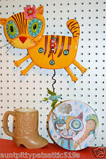 Michelle Allen Designs Cat Clock Kimi Kitty Whimsical ships in 24 hours