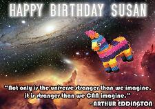 Arthur Eddington citar la ciencia espacial Ciencia Ficción Personalizada Feliz Cumpleaños Tarjeta De Arte