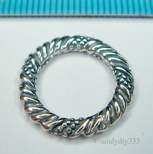 1x STERLING SILVER TWIST ROUND JUMP RING LINK CONNECTOR 16.7mm #1409