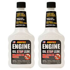 2 x Abro Car Engine Oil Gasket & Seal Stop Leak Conditioner Additive Treatment