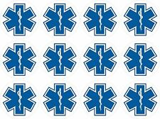 "12 - 1"" Star of Life EMS Emergency Response Stickers"