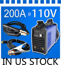110V 200A IGBT INVERTER MMA/ARC Welder 3.2 rod welding machine in US STOCK