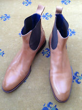 Oliver Sweeney Men's Tan Brown Leather Chelsea Dealer Boots UK 9.5 US 10.5 43.5