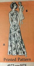 Vintage Pattern Dress Rich Hippie Chic 1970's Fashion Mail Order 18/40 Uncut
