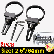 2 x 2.5inch 64mm Bull Bar Roll Cage Tude Mount Brackets Clamp For LED HID Light