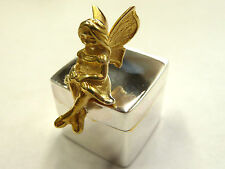 New Solid Sterling Silver.925 Fairy Keep Sake Box * Christening Gift *