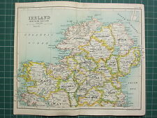 1904 SMALL MAP ~ IRELAND NORTHERN SECTION ~ TYRONE ANTRIM MAYO MEATH DONEGAL