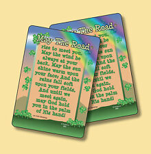 """""""May The Road Rise"""" Irish Blessing - 2 Verse Cards - SKU# 880"""