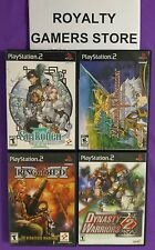 PS2 games lot: Suikoden 3, Mana Khemia, Ring Of Red, Dynasty Warriors 2 - used