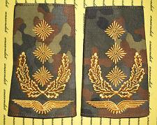 Schulterklappen Rangabzeichen Luftwaffe Generalleutnant gold Flecktarn ##F694