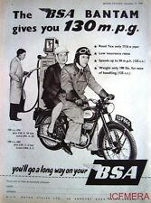1957 Motor Cycle ADVERT - B.S.A. '125cc & 150cc Bantam' Print AD