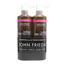 John Frieda Brilliant Brunette Moisturising Shampoo & Conditioner 500 ml