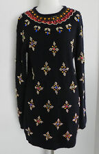 Vtg Luxury Collection Sweater Tunic Dress Angora/Silk blend Sequined Size S/M