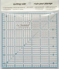 summit  QUILTING PATCHWORK ROTARY RULER 6.5 inch square blue with grid
