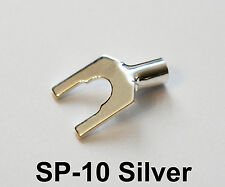 DH-Labs (Silversonic) SP-10 SILVER Spade connectors (10-12 AWG) (1pair)