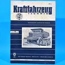 DDR KfT Kraftfahrzeugtechnik 5/1953 Fahrradantrieb Porsche Rennwagen Swesda