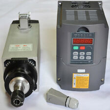 4 BEARINGS 4KW AIR-COOLED MOTOR SPINDLE ER20 AND INVERTER DRIVE VFD  FOR CNC
