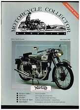 MOTORCYCLE COLLECTOR MAR-APR 1992 PREMIER ISSUE '48 NORTON MODEL 30 TUNING AMALS