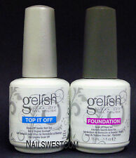 Harmony Gelish UV/LED Soak Off Gel DUO: Foundation Base + Top It Off (01245D)