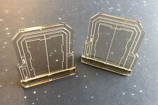 Imperial Assault compatible, double sided acrylic Door templates x 2