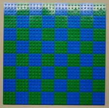 x64 NEW Lego Plates 4x4 Blue & Green Baseplates MAKES CHESS Game Board