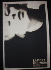 SLEEPING TIGER Cuban Silkcreen Poster for UK Movie w/ Blacklisted Director CUBA
