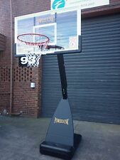 Powerdunk Pro Portable Adjustable Basketball Stand System Slam Height Ring