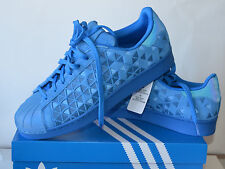 NIB Adidas Men's Originals Superstar Sneakers Blue  Size 14