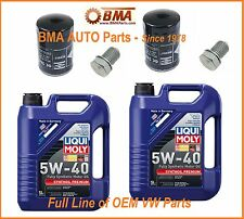 2 x OEM VW Golf  99-06 Oil Change Kits  -2 Filters, 10 Liters Oil, 2 drain plug
