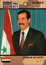 Saddam Hussein Desert Storm 1991  Pro Set #69 Card