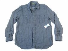 AMERICAN RAG GRAY BLUE XL SLIM FIT SOFT BUTTON DOWN SHIRT MENS NWT NEW