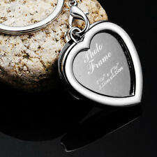 Details about Photo Picture Frame Keyring Novel Heart-shaped Alloy Keychain