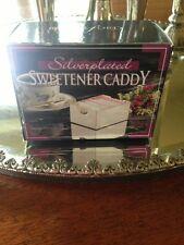 BNIB Vintage Elegant Silverplated Sweetener Sugar Packets Caddy Bridgeford