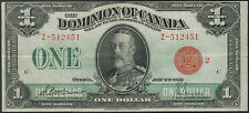 TMM* 1923 Dominion Of Canada Dollar Note Red Seal P#33g VF/ EF