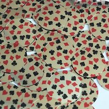 Sequin Round 30mm Playing Card Clubs Hearts Spades Diamonds Gold Metallic