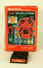 Intellivision boxed game Maze A Tron CIB Tested & Working