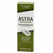 100 Pc Astra Superior Platinum Double Edge Shaving Razor Blades Free Shipping