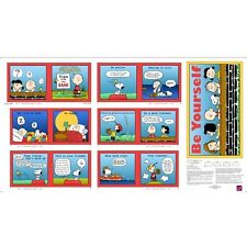 Tips From The Gang Panel cotton quilt fabric BTP Peanuts Charlie Brown Panel