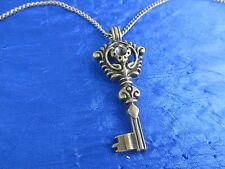 Victorian style Skeleton Key necklace with antique bronze finish