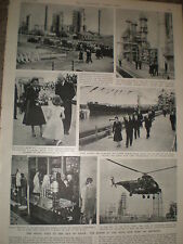 Photo article Queen elizabeth visit to Kent oil refinery Isle of Grain 1955 rf Z