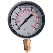 Pressure Gauge 63mm G1/4bspp 0 - 120Bar/1800psi Stem Mount