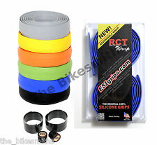 BLUE ESI Grips RCT Silicone Handle bar Tape Reversable Washable Road Bike Wrap