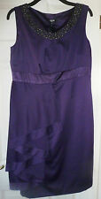M&S PER UNA - SPEZIALE RANGE - PURPLE DRESS - 16L  (G1562) CRUISE/WEDDING