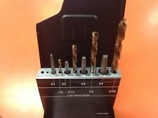 Norseman 8pc Square Extractor & Left Drill bit set USA #70850